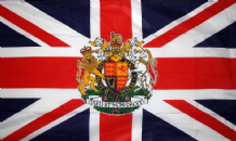 "UNION JACK WITH ROYAL CREST - 18"" X 12"" FLAG"